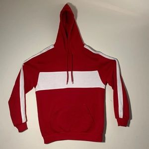 Red/White Stripe Hoodie